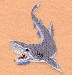 Shark - 4x4   Beach/Ocean   Machine Embroidery Designs   SWAKembroidery.com Starbird Stock Designs