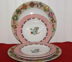 5 pc Mary Engelbreit Home Sakura Garden Time Dinner Salad Desert Plates Dishes