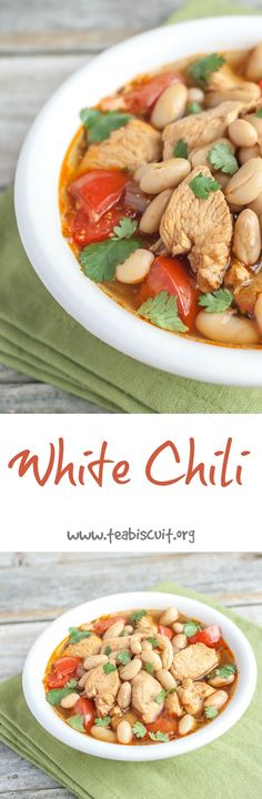 White Chicken Chili - ready in less than 30 minutes! | teabiscuit.org