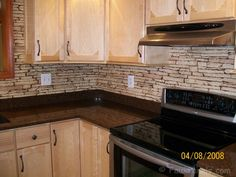 Kitchen Backsplash Rock faux stone kitchen back splash. i also want the outer side of the