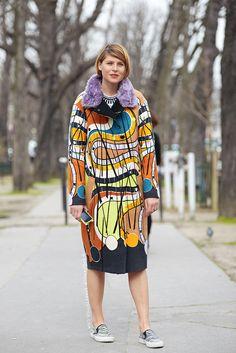 Mix&Match: Pop Print Coat + Zebra Print SlipOns