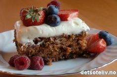 Gulrotkake fra R.O.O.M. med stevia  detsoteliv.no - Best på kakeoppskrifter!