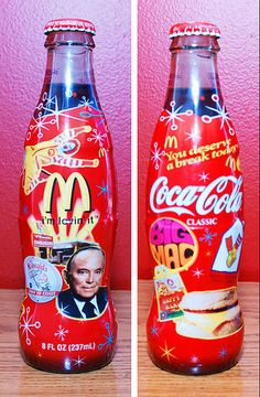 1955-2005 MACDONALD'S 50TH ANNIVERSARY COCA COLA BOTTLE very limited