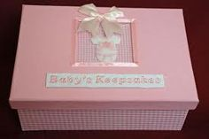 Keepsakes box to remind your grown up baby, they were once tiny...