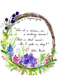 John Keats - Ode to a Nightingale #quotes #books                                                                                                                                                                                 More