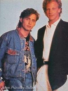 Beverly Hills 90210's Jason Priestley as Brandon Walsh and Ian Ziering as Steve Sanders