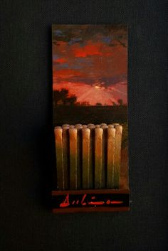 """Day 299 of the Matchbook Series 2015 """"Moonstruck"""" by Michael Dubina;  """"And in my Dream Late last night All was bathed In her beautiful moonlight"""" -Michael Dubina"""