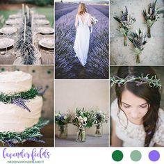 Idee per un matrimonio dal gusto provenzale: lavanda, erbe aromatiche, foglie di ulivo, materiali naturali e gusto bucolico.