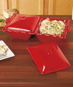 Covered Double Casserole Dishes