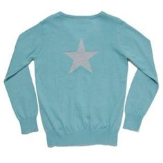 Back View Long Star Cardigan - Turquoise - Knitwear - Girls ilovegorgeous