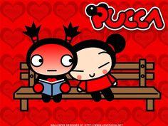 kkkkk Pense em uma menina apaixonada por um coitadinho, que também ama ela, mas com uma intensidade normal? Essa é a Pucca e o seu amado Garu. Muito fofos!! ^_^