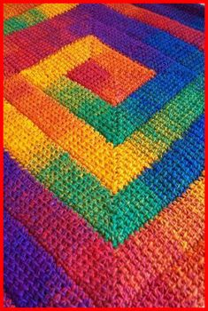 Simply Spiraled Crochet Square or Rectangle pdf pattern. Make a dishcloth, afghan, baby blanket, rug as you wish Simply Spiraled Crochet Square or Rectangle pdf pattern. Bag Crochet, Tunisian Crochet, Crochet Afghans, Crochet Crafts, Crochet Stitches, Crochet Projects, Crochet Granny, Yarn Projects, Crochet Blankets