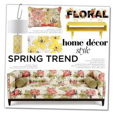 """Spring floral decor"" by vanjazivadinovic ❤ liked on Polyvore featuring interior, interiors, interior design, home, home decor, interior decorating, PATH, Old Hickory Tannery, Improvements and homeset"