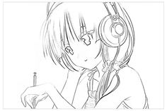 manga_coloring_page Teens and adults coloring pages