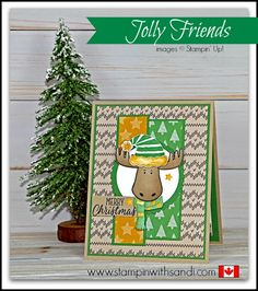 Stampin Up Jolly Friends and Rider Pride - Stampin With Sandi - Canadian Stampin Up Demonstrator