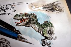 Dragons and dinos by marciolcastro on DeviantArt