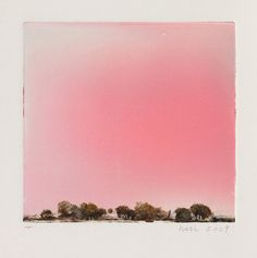 Title: Red Sky for John Ashbery Artist: Wendy Mark (American) Year: 2009  Materials/Techniques: Monotype