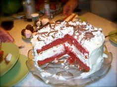 "Lincoln's Red Velvet (Cheesecake) Cake"" Schmidt Food Files Red Velvet Cheesecake Cake, Cake Recipes, Dessert Recipes, Cupcake Cakes, Cupcakes, Piece Of Cakes, Yummy Cakes, Just Desserts, Lincoln"