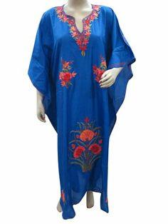 Caftan Muumuu Dress Kashmiri Crewel Embroidered Kimono Sleeves Kaftan Cover Up Mogul Interior,http://www.amazon.com/dp/B00HIXZTOE/ref=cm_sw_r_pi_dp_lEeVsb09KQ50YMZ1