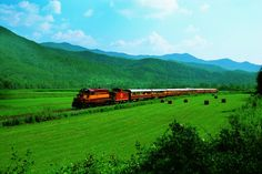 Bryson City, NC - Great Smoky Mountain Railroad offers scenic rail excursions through a remote corner of North Carolina into river gorges, across valleys and through tunnels carved out of mountains. Excursions include Nantahala Gorge, Dinosaur Train, Polar Express, Mystery Theatre Dinner Train and other themed events.