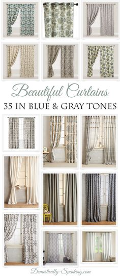 35 Beautiful Curtain Ideas For The Master Bedroom Calming Blue And Gray Tone Panels