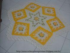 Meu Crochê Contemporâneo: Tapete Estrela Medina