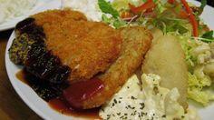 蒲生洋食堂 Aランチ ポークカツ・ハッシュドポテト・白身魚フライ