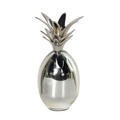 Silver Metal Pineapple Candleholder Dimensions: H: 180mm ***Please note that many of our products are not located in our retail shop, please contact us pri