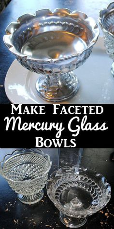 DIY some beautiful faceted Mercury Glass Bowls for your Holiday Home Decor! This is such a fun and easy technique from Graphics Fairy blog.