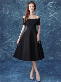 tea length a line formal dress - Google Search