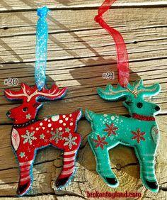 2 Broken Toyland ornaments 30 and 31  christmas by brokentoyland