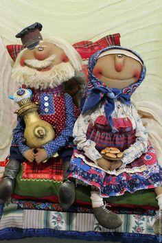 Купить Чаепитие - комбинированный, текстильная кукла, ароматизированная кукла, интерьерная кукла,…