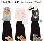 The June Closet, Outfits 8-10 : Black Maxi 3 Perfect Summer Ways!