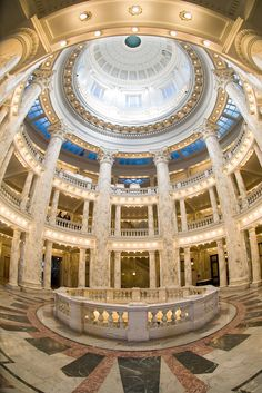 Interior of State Capitol building in Boise, Idaho. Promote progress in Boise at boisethinks.org