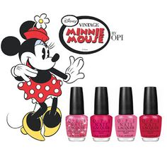 Now Vintage Minnie Cure with Disney O P I Collection. What great themed nail colors from the past by OPI. Follow Asher Socrates @ashersocrates for the Worlds best nail salons and products.