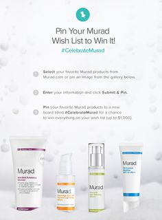 Pin your Murad wish list to win it! Click through to see how you can enter to win your entire Murad product wish list. #CelebrateMurad