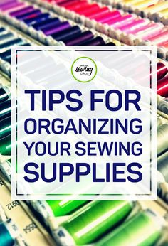 Leah Rybak gives us some tips on how we can be more organized with our embroidery and sewing supplies. By simply using hair ties, we can organize and color code our supplies. Watch this quick sewing tip and learn some simple tricks for organizing your own sewing supplies.