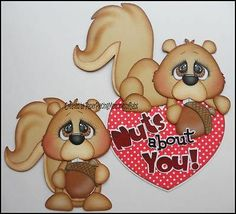 Premade Nuts About You Paper Piecing Set for Scrapbook Page by Babs | eBay