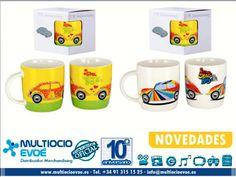 VW BEETLE- TAZA - FLOWER EAN: 600514902212 Material: cerámica. Presentación: caja con ventana. Capacidad: 40cl.  VW BEETLE- TAZA - STRIPES EAN: 600514902229 Material: cerámica. Presentación: caja con ventana. Capacidad: 40cl.