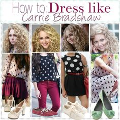 How to Dress like Carrie Bradshaw by dancingwiththestars on Polyvore featuring BC Footwear, Accessorize, Keds and modern