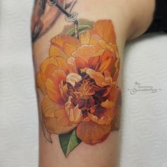 Pion flover tattoo by Gollandets Art