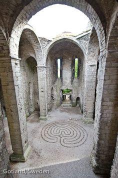 Gotland Sweden Gotland, Kingdom Of Sweden, Labyrinth Maze, About Sweden, Stockholm, Beautiful Islands, Beautiful Places, Denmark, Ruins