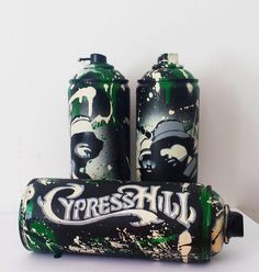 Cypress Hill by #ricky art #hiphop #graffiti #customcans #cypresshill