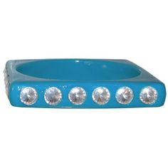"1/2"" Wide Square Bangle with Acrylic Rhinestones All Around In Turquoise . $3.99. Save 60% Off!"