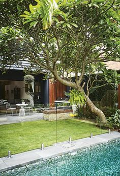 Inspired by a family trip to Bali, this compact garden includes kid-friendly zones and plenty of space for entertaining.