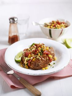 A sizzling, spicy baked potato recipe loaded with a tangy Mexican salad of sweetcorn and tomatoes drizzled with lime, cumin and chilli. Healthy Mexican Recipes, Mexican Salads, Vegetarian Recipes, Quick Potato Recipes, Easy Recipes, Potato Varieties, How To Store Potatoes, Midweek Meals, Quick Easy Meals