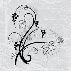 Swirly Grapes Element On Grunge Background Royalty Free Stock Vector Art Illustration