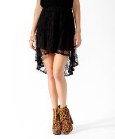 High-Low Lace Skirt | FOREVER21 - 2019571350