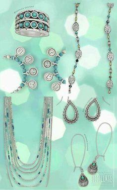 Loving the turquoise! Premier Designs Spring 2016 Facebook.com/CiboloJewelryLady