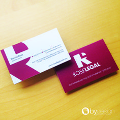 Rose Legal business cards byDesign Graphics ©